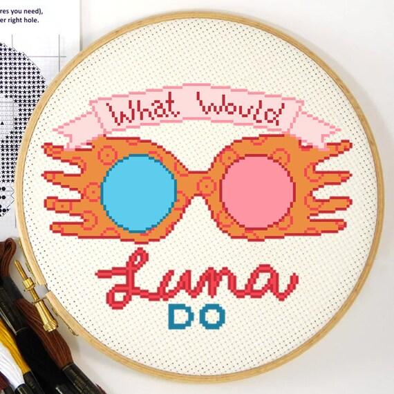 Luna Lovegood Spectrepecs Cross Stitch Instant Download Pdf Etsy