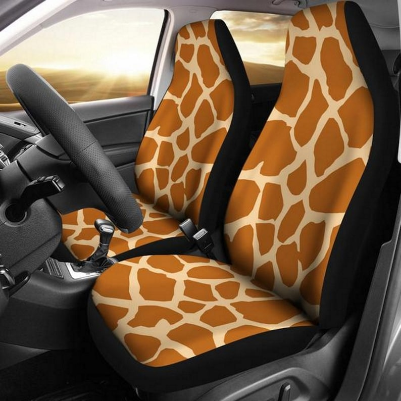 Groovy Animal Print Giraffe Print Giraffe Paw Print Car Seat Covers Car Accessory Gift For Her Custom Seat Covers Custom Made Cover Short Links Chair Design For Home Short Linksinfo