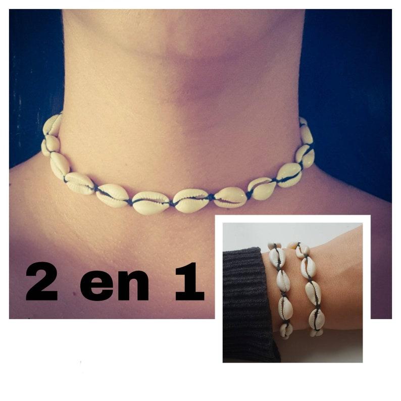NecklaceBracelet 2 in 1 elastic.