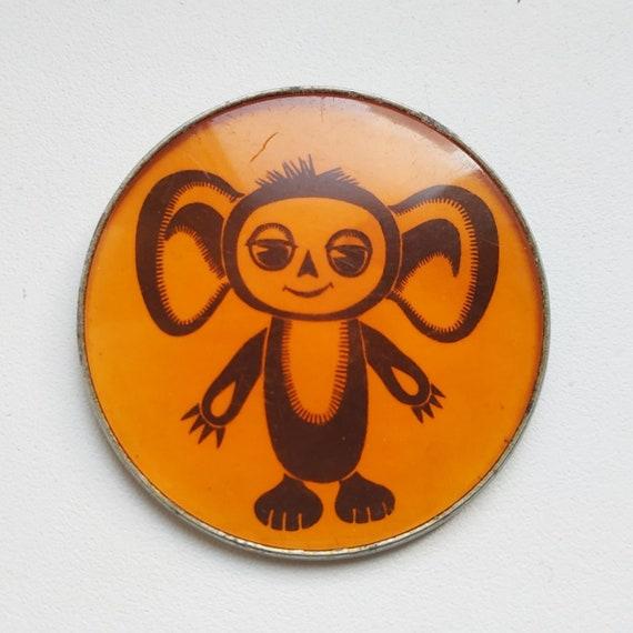 Badge Cheburashka, Soviet badge, USSR badge, Rare