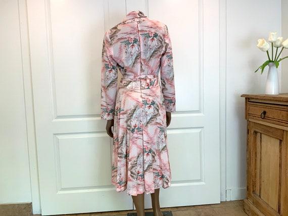 Pretty Pastel Floral Midi Dress - image 7