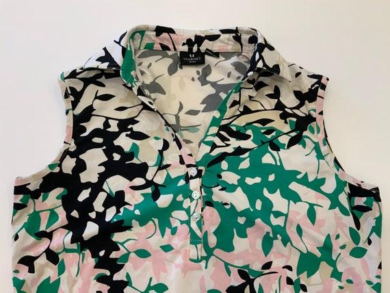 90s Vuarnet Sport Sleeveless Collared Shirt, Large