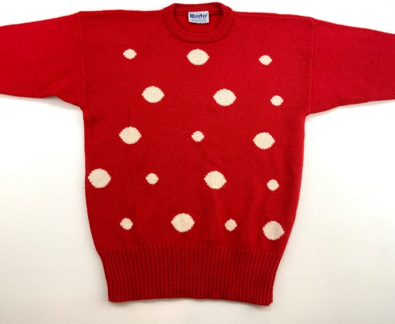 Men's Vintage Wool Sweater, Patterned Wool Sweater