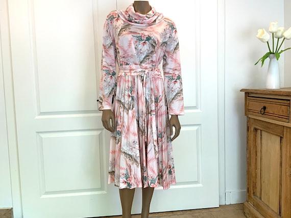 Pretty Pastel Floral Midi Dress - image 3
