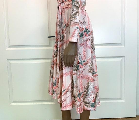 Pretty Pastel Floral Midi Dress - image 6