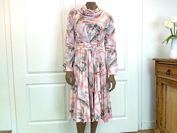 Pretty Pastel Floral Midi Dress - image 2