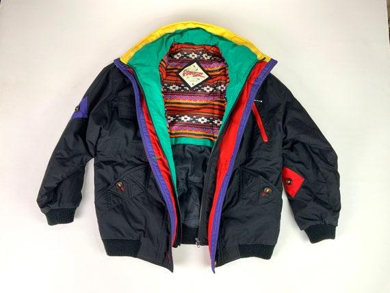 80s 90s Ski Jacket, Vintage Ski Jacket, Men's Larg