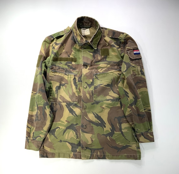 Vintage Army Camo Field Shirt/  Jacket - Netherlan
