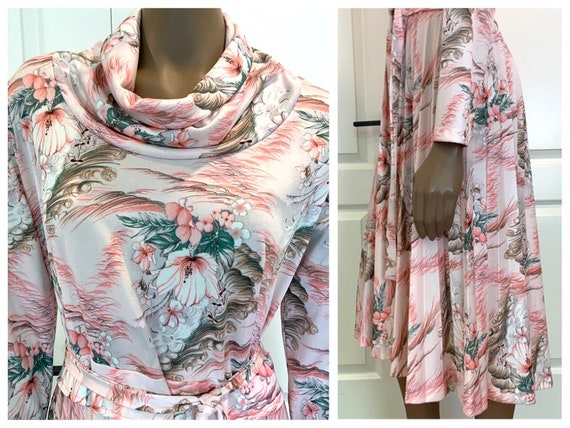 Pretty Pastel Floral Midi Dress - image 1