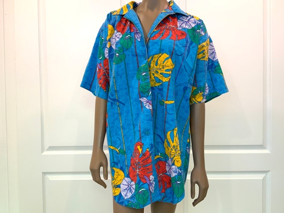Retro Speedo Swim Coverup Shirt 70s 80s Cotton