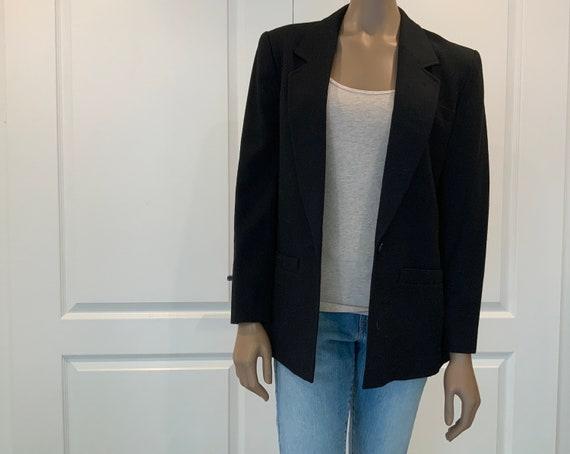 Women's Pendleton Wool Blazer Jacket Black