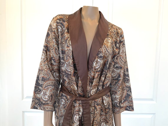 Men's St. Michael Paisley Smoking Jacket - Made in