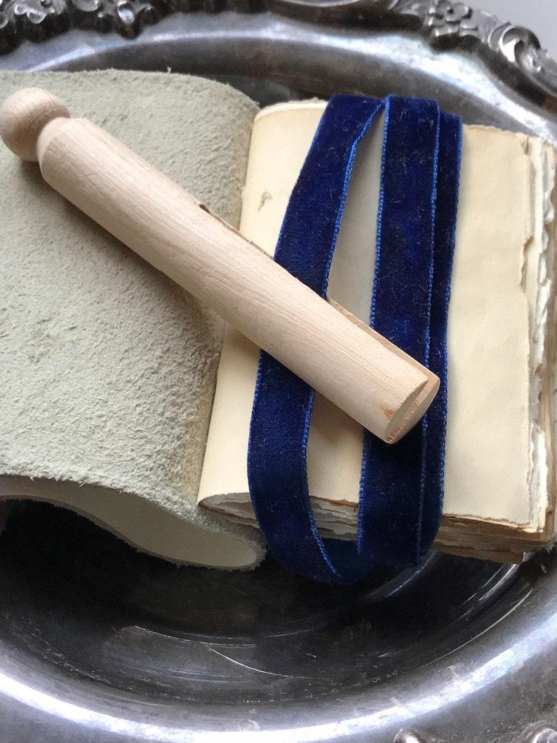 Gorgeous Navy blue  Velvet wedding hand dyed velvet ribbon luxe 3 yards