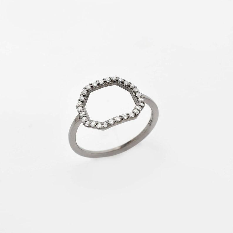Special Gift 14k Diamond Ring Gold Open Ring Gift for Her Engagement Ring Minimal Diamond Ring Anniversary Ring Gold Diamond Ring