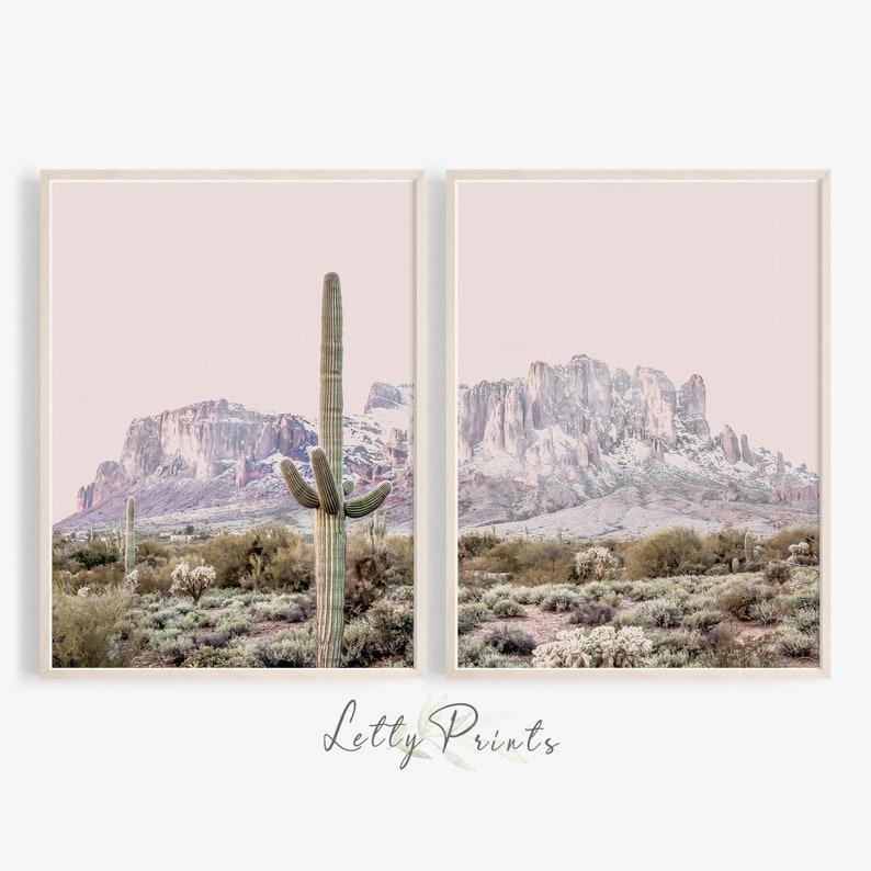 Set of 3 Desert cactus photos nature photography 5x7 prints