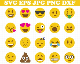 picture regarding Printable Emojis Faces identify Emoji assortment Etsy