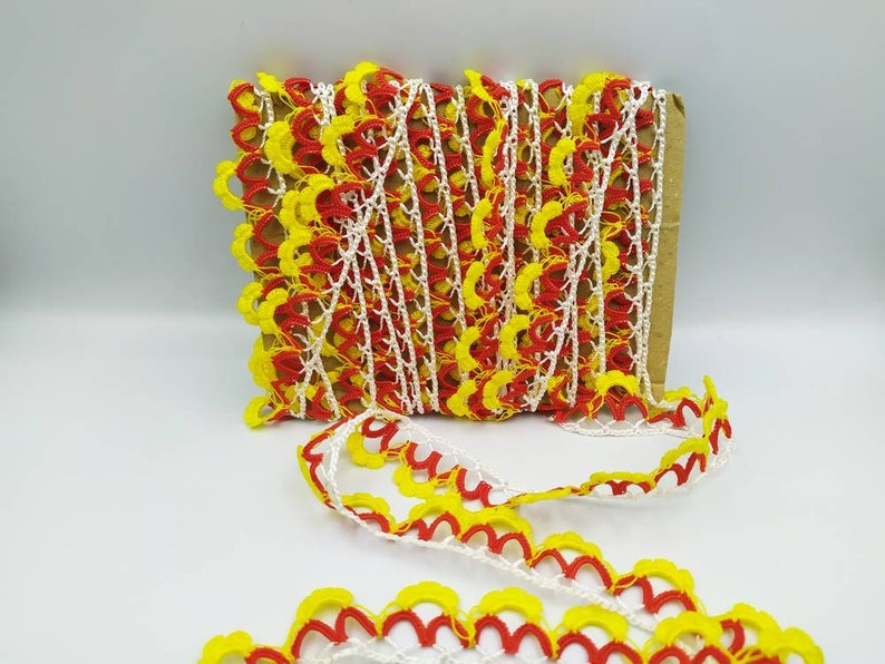 scarf lace red lace scarf needle lace Needle lace yellow lace