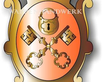 Guild Whales Castle Went Coat Heraldry Craft Locksmith Master