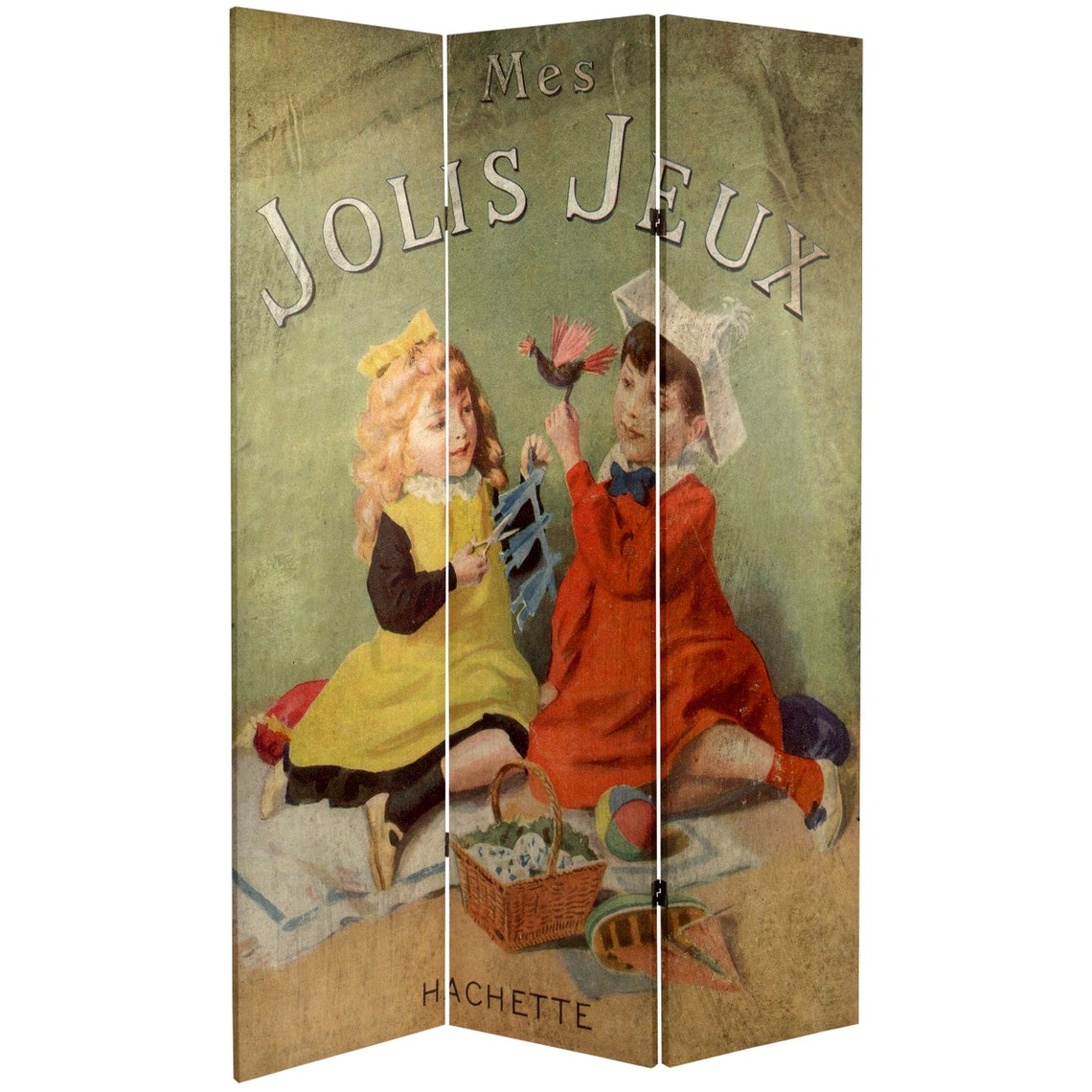 6 ft. Tall Double Sided Children's Stories Canvas Room Divider
