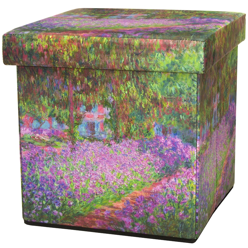 Stupendous Monet Irises Storage Ottoman Gamerscity Chair Design For Home Gamerscityorg