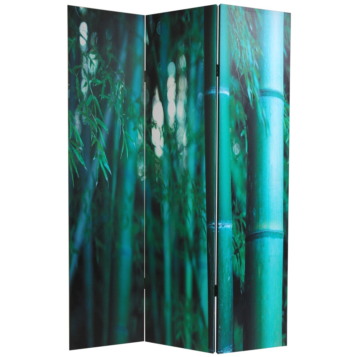 6 ft. Tall Double Sided Bamboo Tree Canvas Room Divider