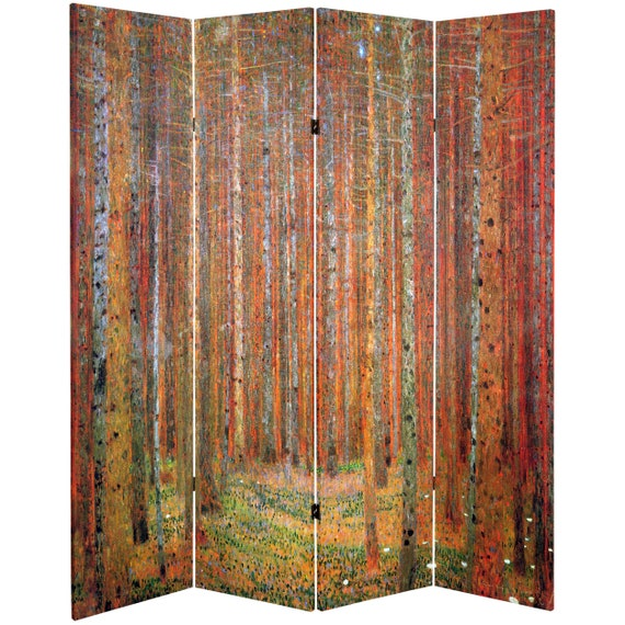 Stoclet Frieze Tall Double Sided Works of Klimt Room Divider 6 ft