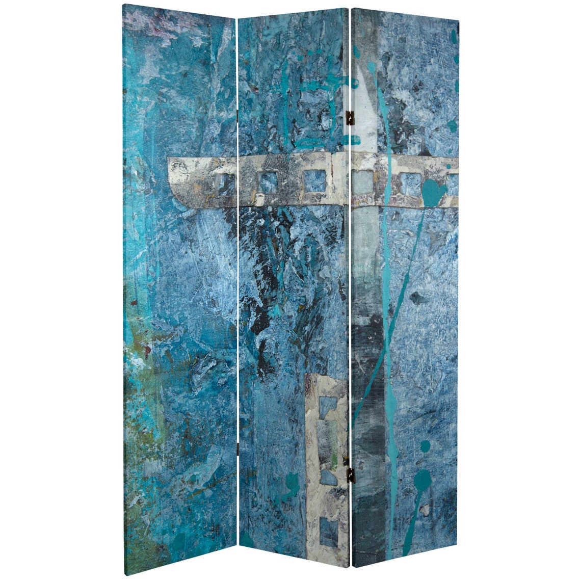 6 ft. Tall Double Sided Blue Dream Canvas Room Divider
