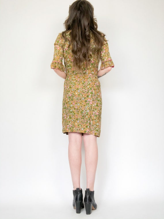 Vintage 60s Floral Two Piece Blazer and Skirt Set - image 4