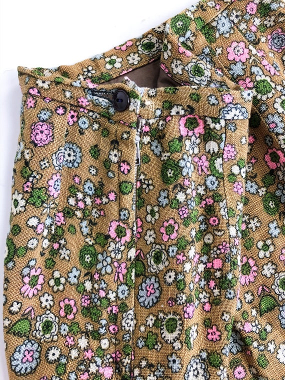 Vintage 60s Floral Two Piece Blazer and Skirt Set - image 7