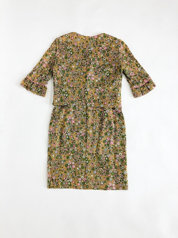 Vintage 60s Floral Two Piece Blazer and Skirt Set - image 6