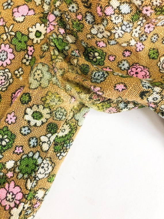 Vintage 60s Floral Two Piece Blazer and Skirt Set - image 9