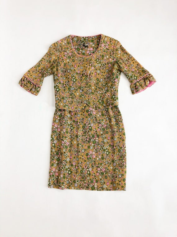 Vintage 60s Floral Two Piece Blazer and Skirt Set - image 5