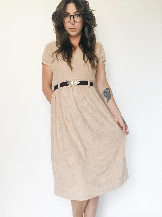 Vintage 70s Orite Terrycloth Dress