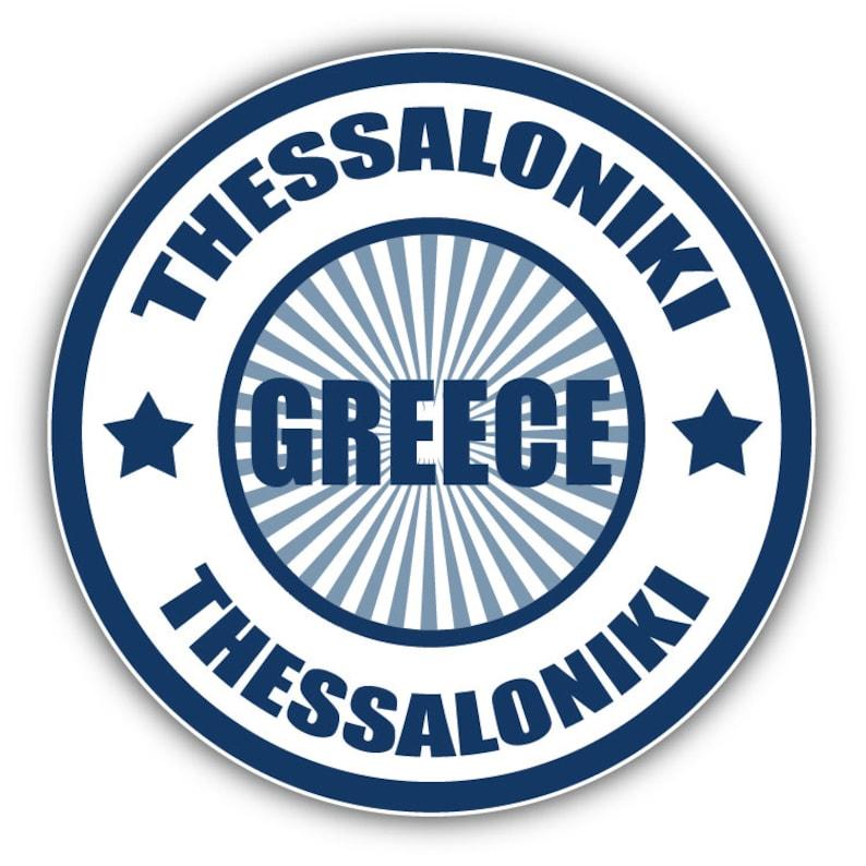 Made In Greece Label Car Bumper Sticker Decal 5/'/' x 5/'/'