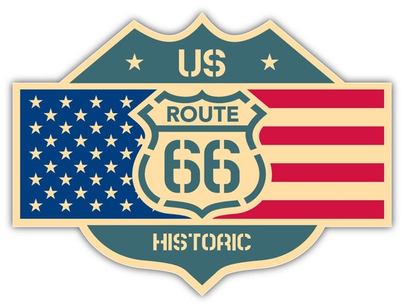 ILLINOIS Route 66 Vinyl Decal Sticker