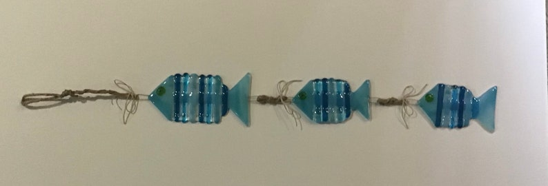 Spiny\u201d Fish in Turquoise and Greens Sun Catcher or Wall art.