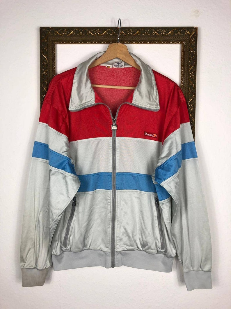 Ellesse Sport Jacket, Vintage Track Jacket in Retro Colors from the 80s 90s