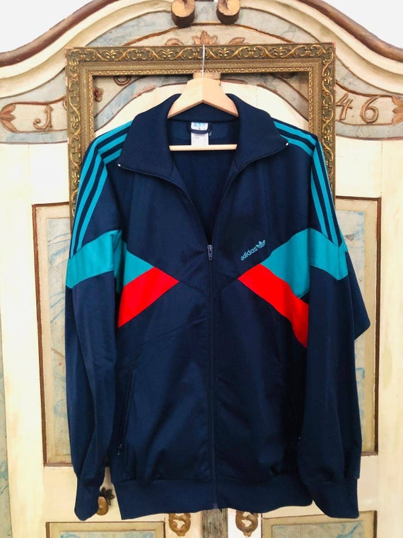Size 8 Vintage Adidas Sport Jacket, Retro Track Jacket from the 90s
