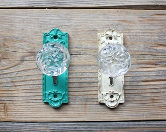 Glass Closet Knob, Small Vintage Style Decorative Door Handle
