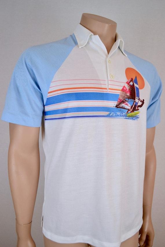 Action, Hawaii windsurfer polo shirt