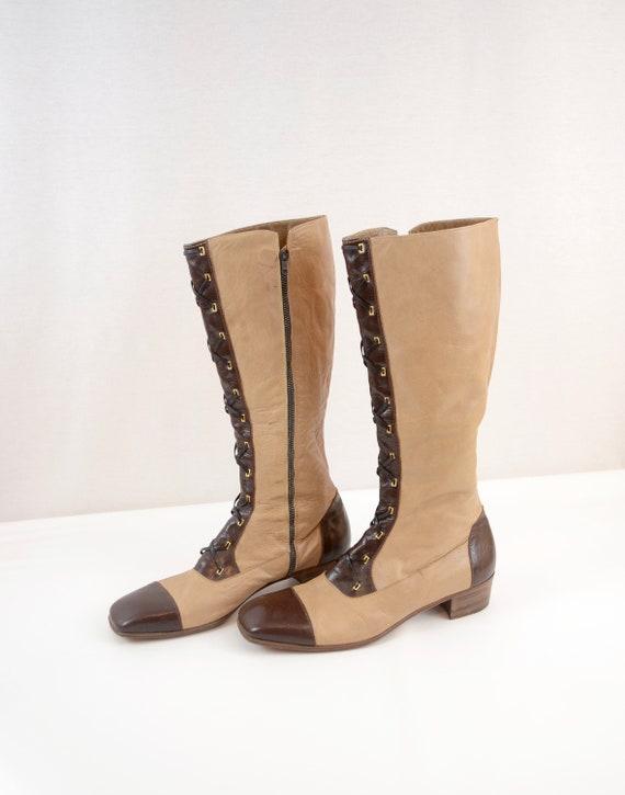 Italian 70's knee high boots