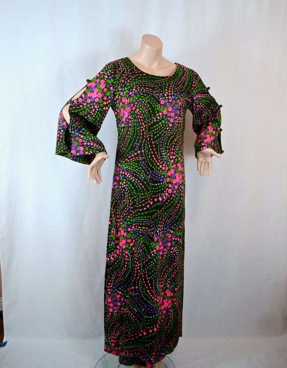 Stan Hicks psychedelic maxi dress