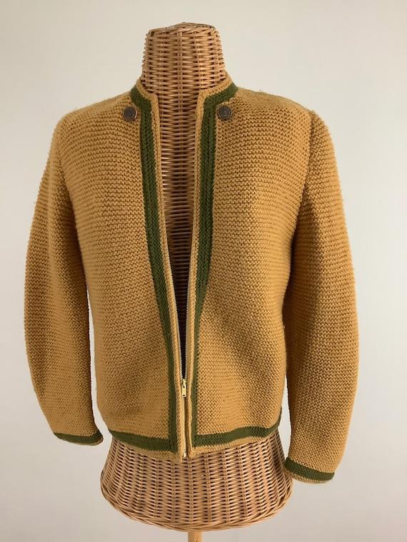 50's hand knit cardigan
