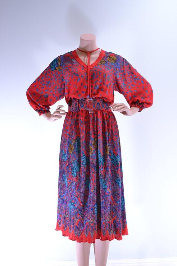 80's Deadstock Diane Freis Petites Georgette dress