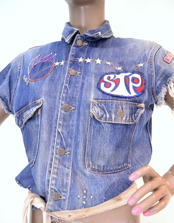 50's Madewell cut off custom denim vest