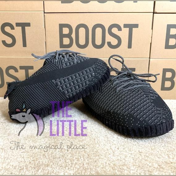 Yzy 350 Static Black Reflective Hype House Sneaker Slipper Etsy