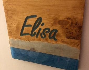 Tisch Holz Epoxy Etsy