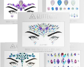 Festival Face Gems Adhesive Stick On Jewels Sticker Rave Party Body