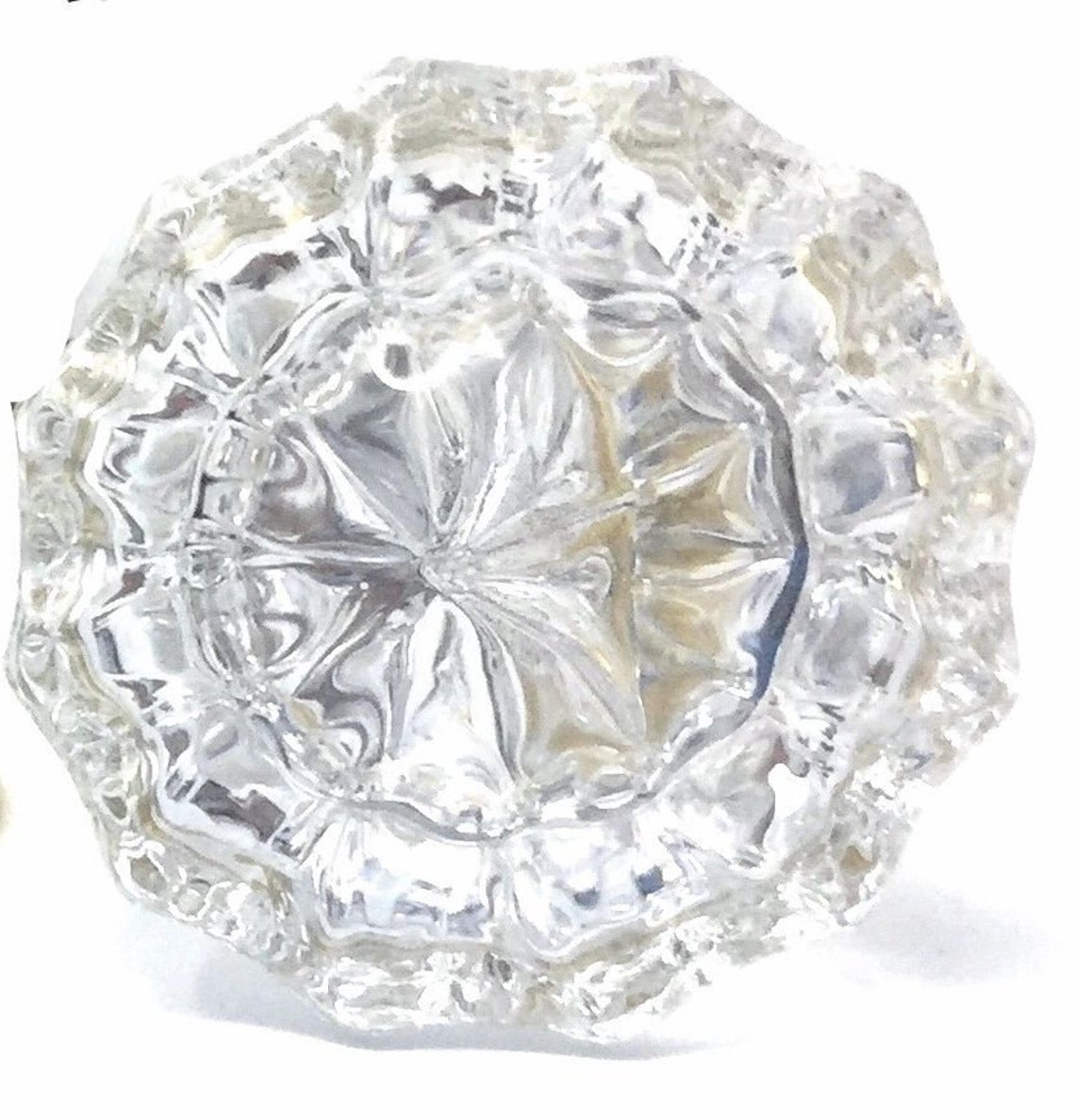 French Door Double Set-Vintage Glass Knobs for both sides of two doors