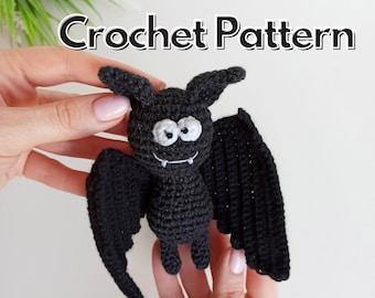 Bat crochet pattern, Halloween crochet decor
